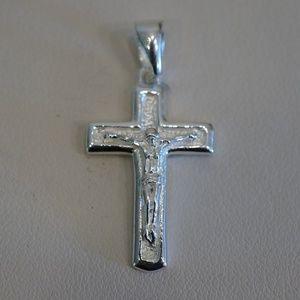 Jewelry - Sterling Silver (.925) 25 x 15mm Crucifix Pendant